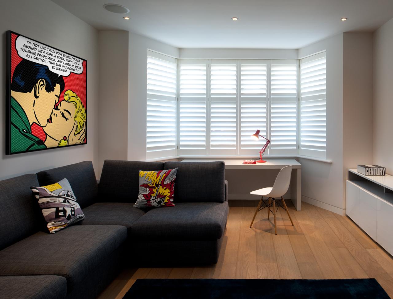 Pop art overlooks an office in a Hampstead interior
