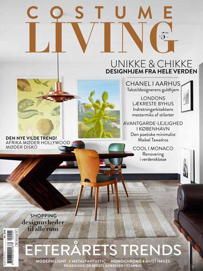 Costume Living magazine cover