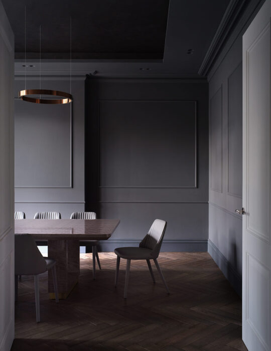 Moody dining room - Luxury sustainable interior design