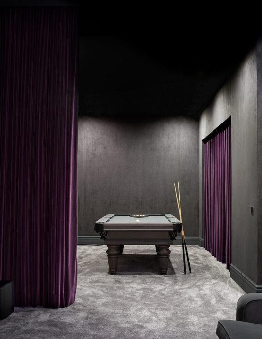 stylish, moody home pool room - Luxury sustainable interior design