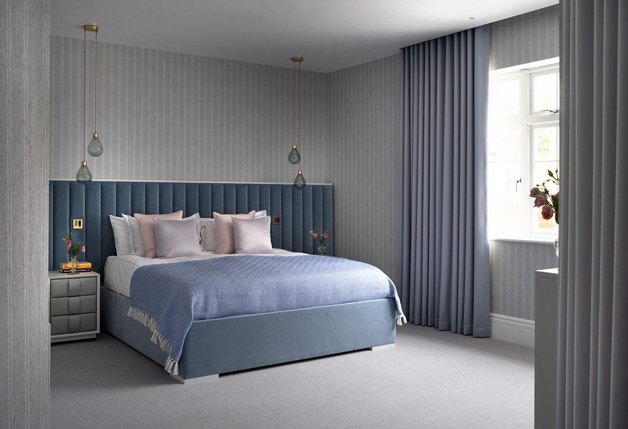 Bedroom blues - Luxury sustainable interior design