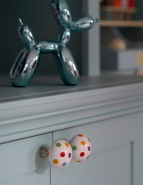 Spotted cupboard handles - Luxury sustainable nursery interior design