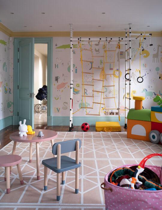 Tactile indoor play area - Luxury sustainable nursery interior design