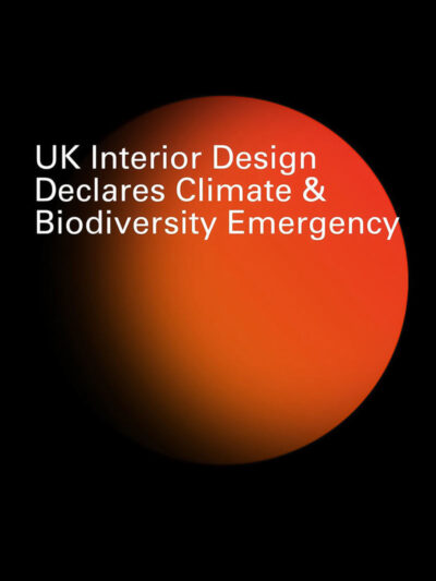 UK design declares climate biodiversity emergency press article cover